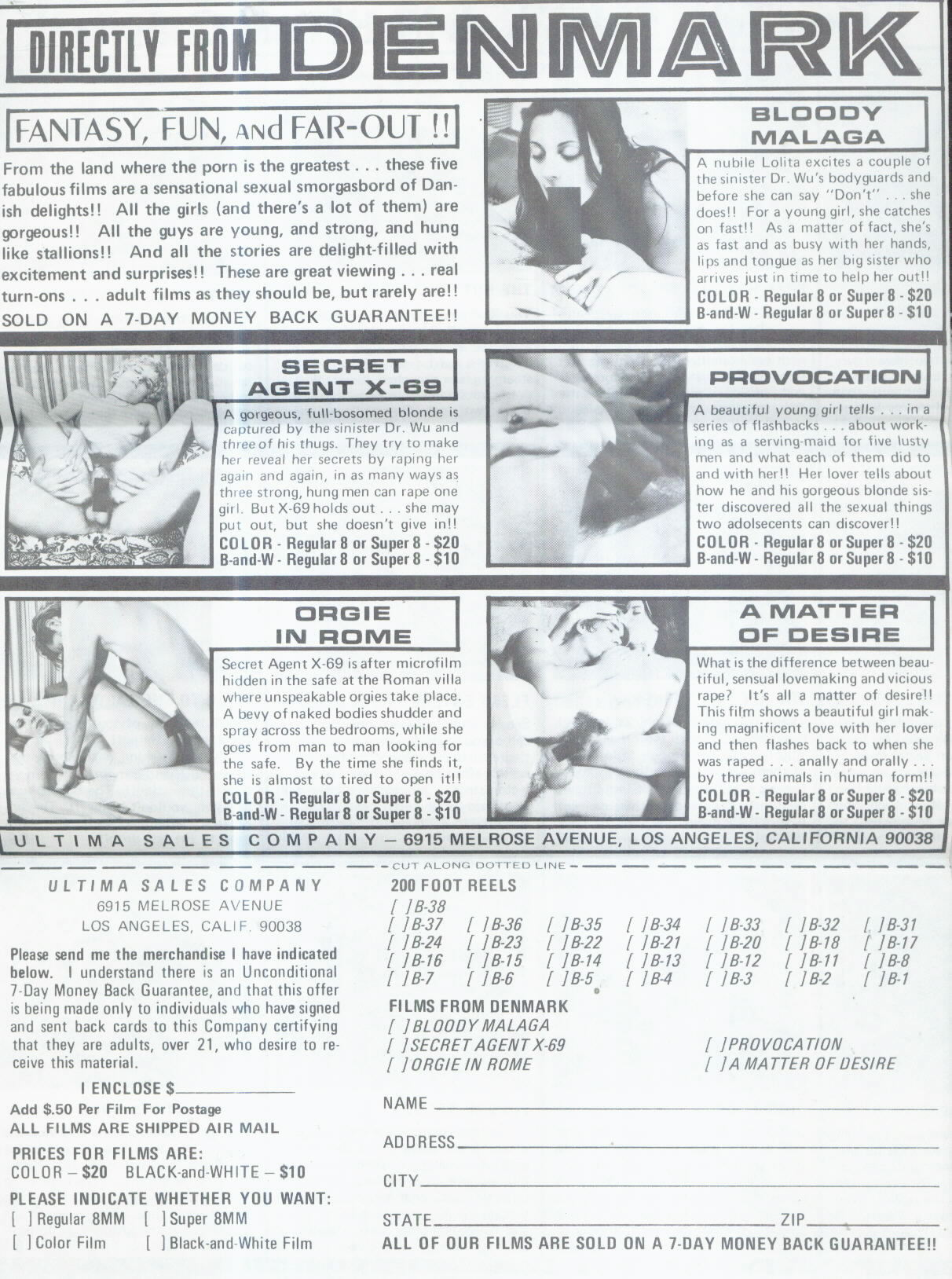 Mail order adult catalogs
