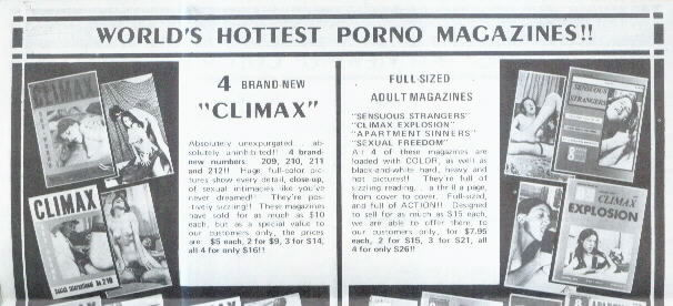 World's Hottest Porno Magazines! Mail-Order Book & Magazine Advert