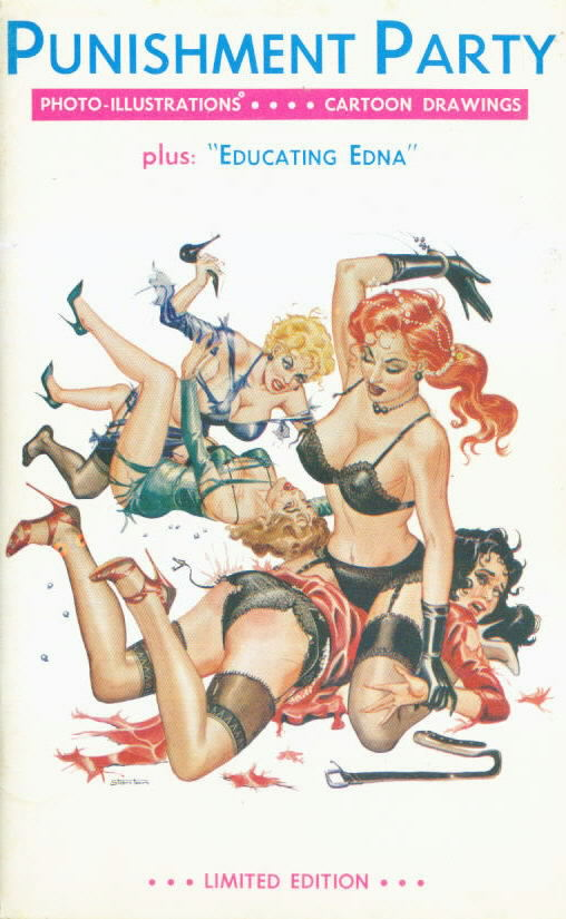 PUNISHMENT PARTY Spanking comic strips with Eric Stanton cover with Bettie Page photos within (1963)