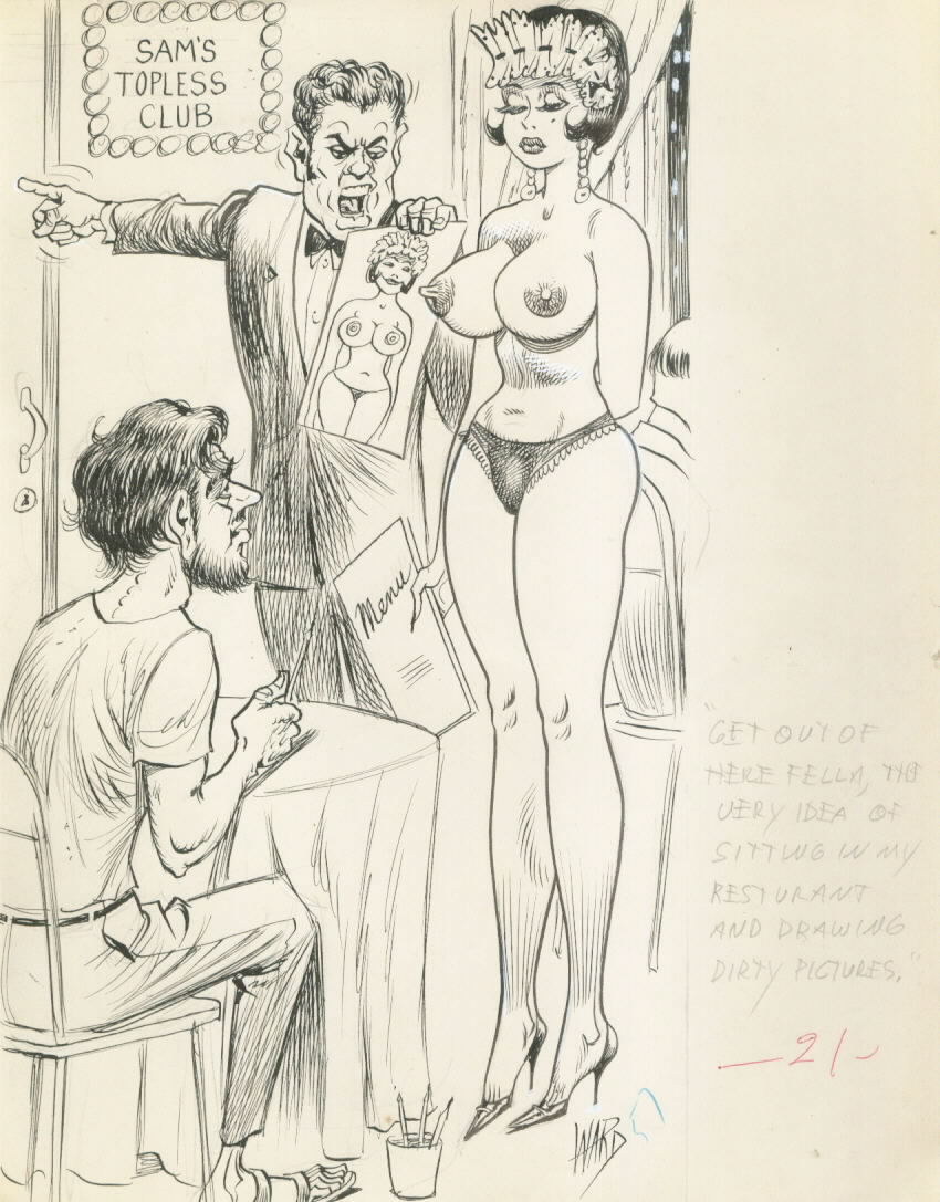 Bill Ward Cartoon about Cartoonist!