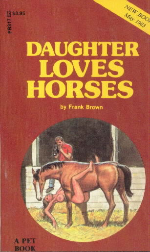 DAUGHTER LOVES HORSES by Frank Brown